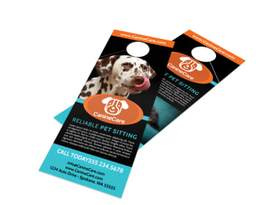 Canine Sitting Door Hanger Template preview