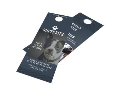 Pet Care Door Hanger Template preview