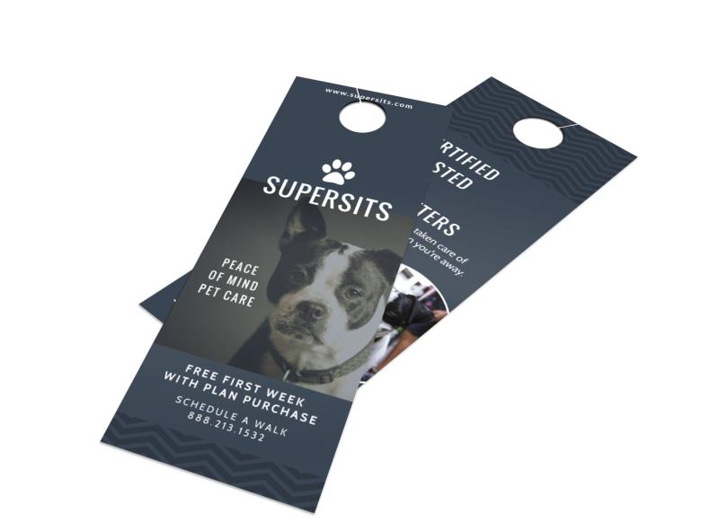 Pet Care Door Hanger Template