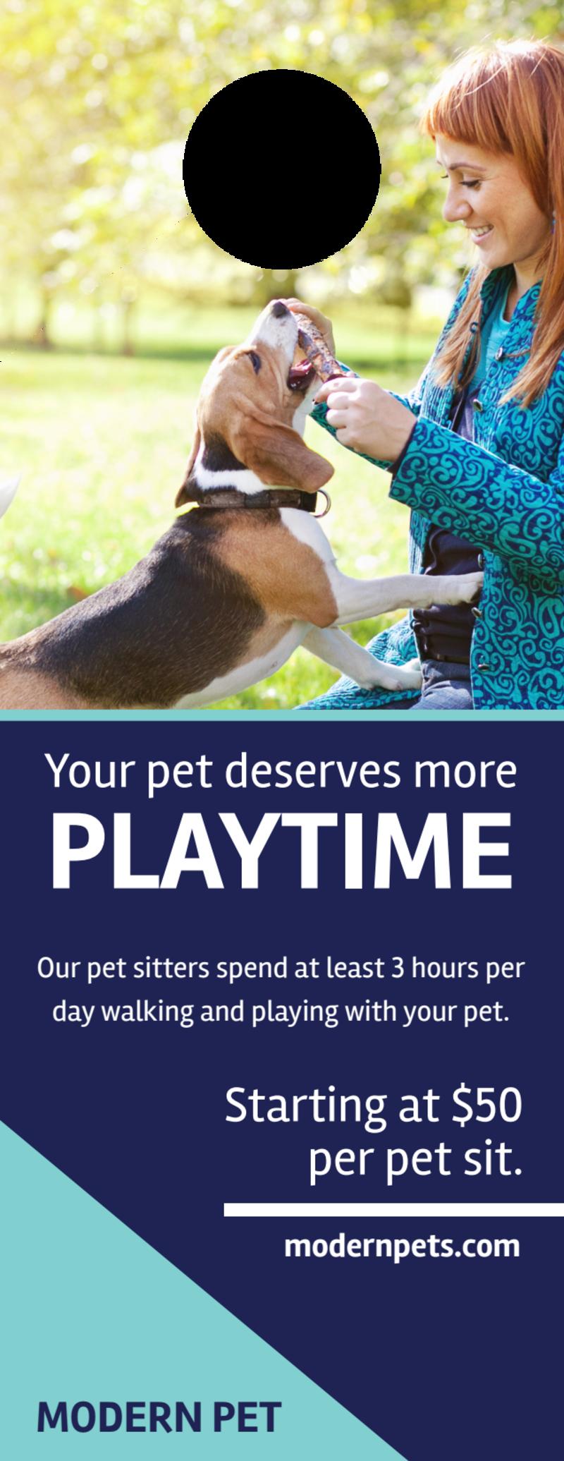 Playtime Pet Sitting Door Hanger Template Preview 2