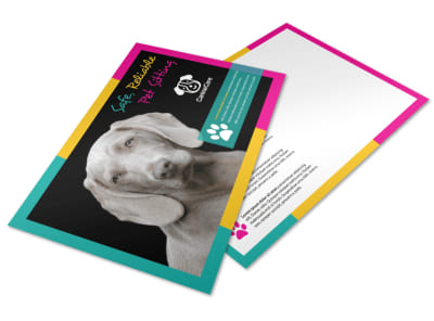 Reliable Pet Sitting Postcard Template