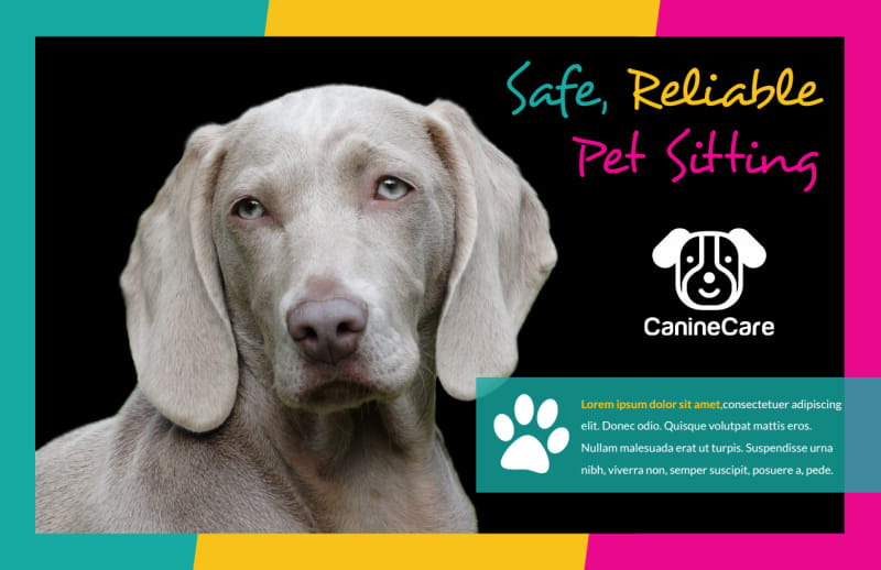 Reliable Pet Sitting Postcard Template Preview 2