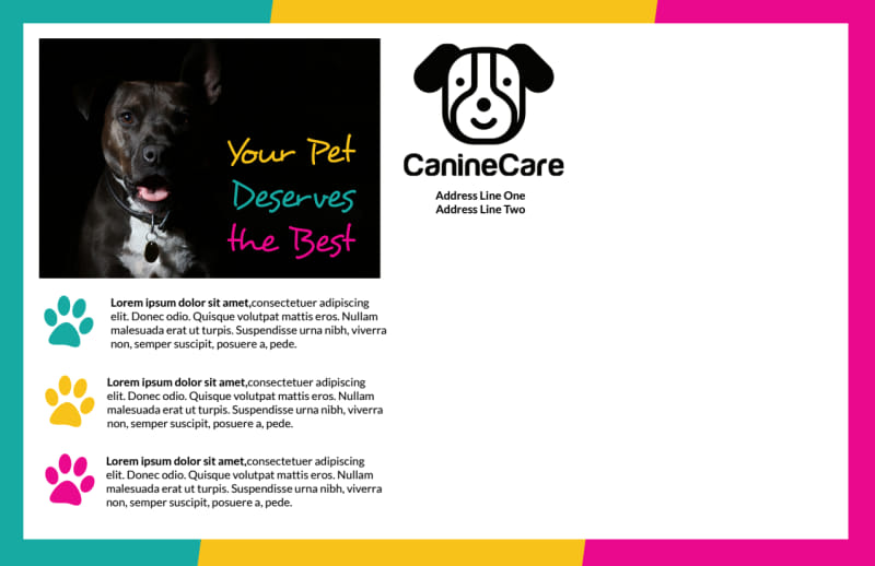 Reliable Pet Sitting Postcard Template Preview 3