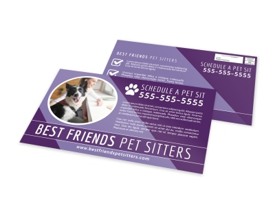 BF Pet Sitting EDDM Postcard Template preview