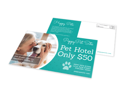 Pet Sitting EDDM Postcards Template Preview