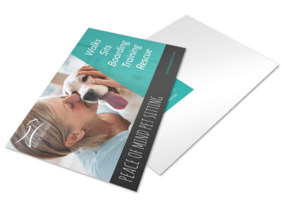 Simple Pet Sitting Postcard Template preview