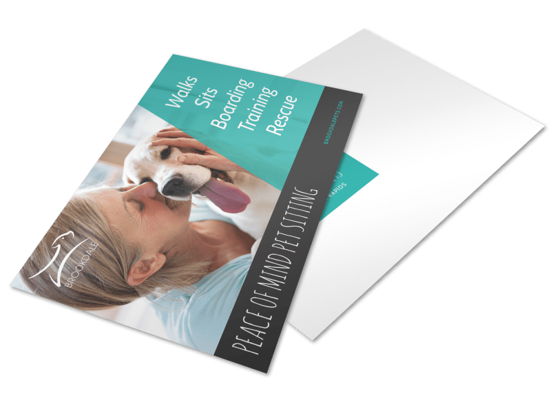 Simple Pet Sitting Postcard Template Preview 1