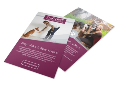 Dogtime Dog Walking Flyer Template preview