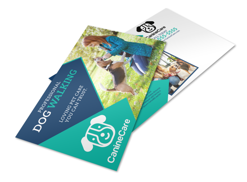Professional Dog Walking Service Postcard Template Preview 1