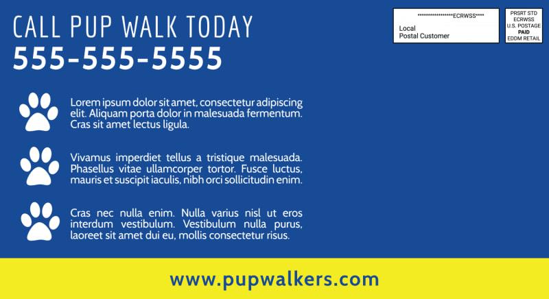 On-Demand Dog Walking EDDM Postcard Template Preview 3