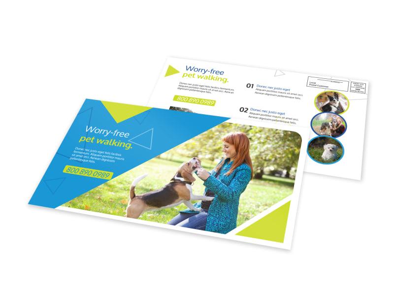 Worry-Free Dog Walking EDDM Postcard Template