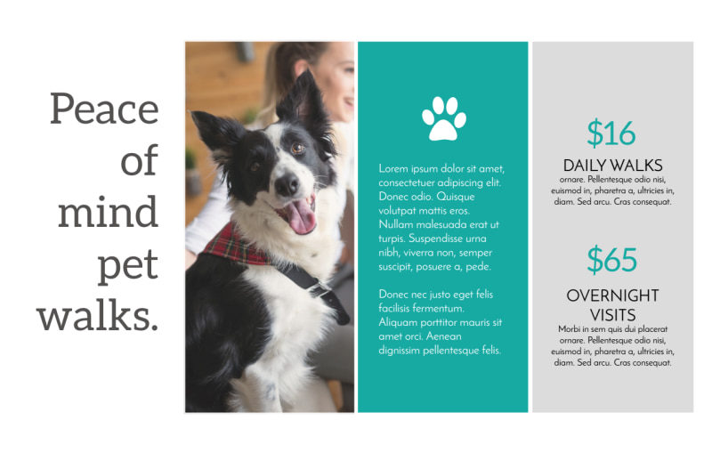 Dog Walk Postcard Template Preview 3