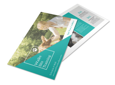 Dog Walk Postcard Template preview