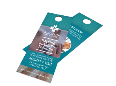 Elite Dog Walking Door Hanger Template preview