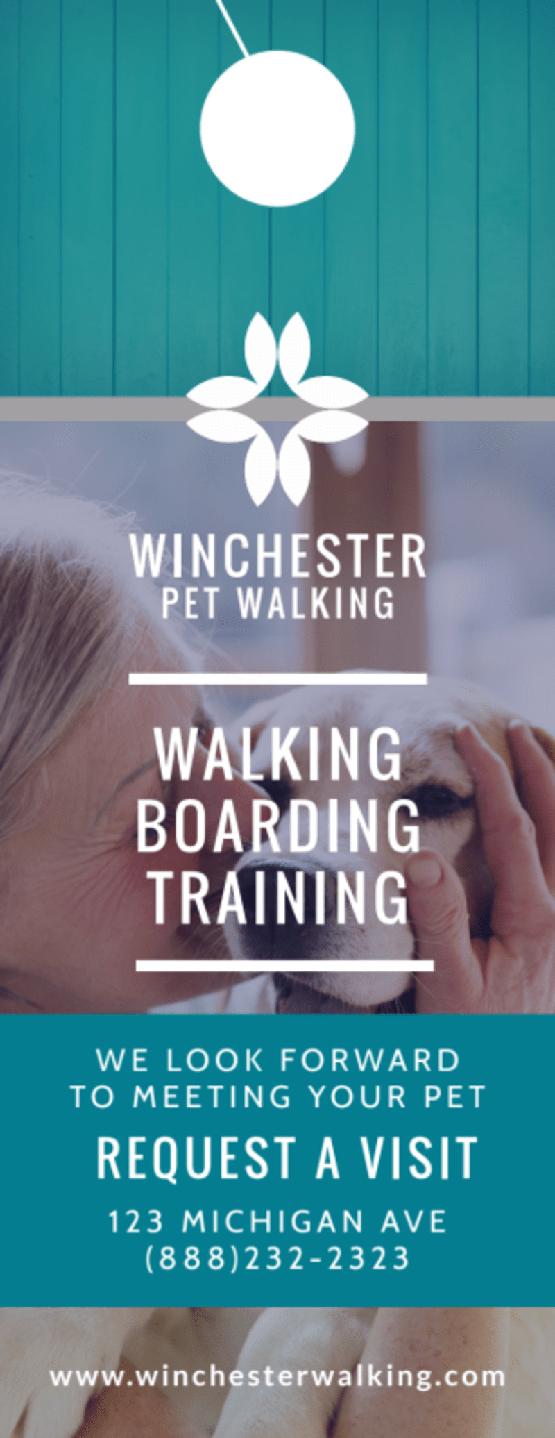 Elite Dog Walking Door Hanger Template Preview 2
