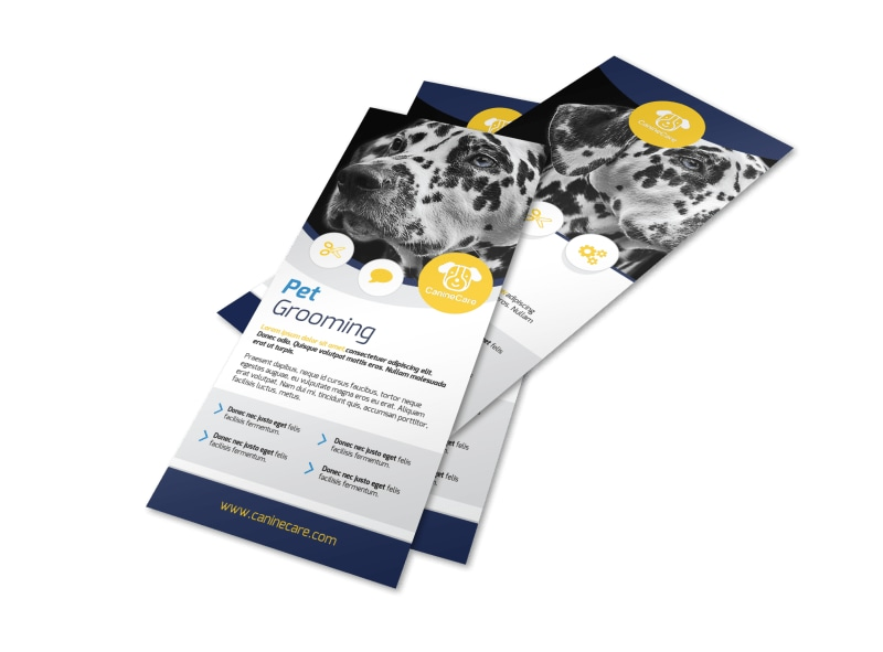 Pro Pet Grooming Flyer Template