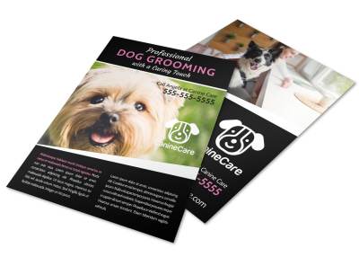 Pro Dog Grooming Flyer Template preview