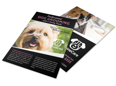 Dog Grooming Flyer Templates Template Preview