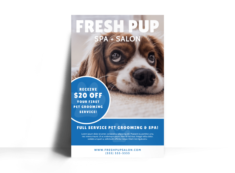 Fresh Dog Grooming Poster Template Preview 1