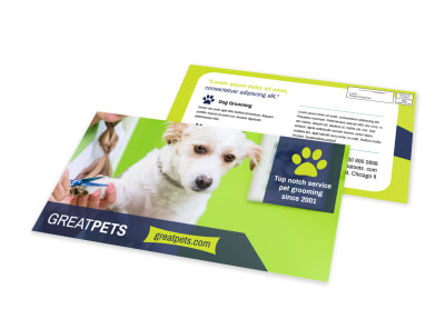 Great Dog Grooming EDDM Postcard Template preview