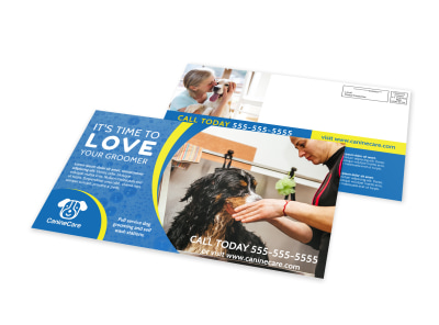 Dog Groomer EDDM Postcard Template preview