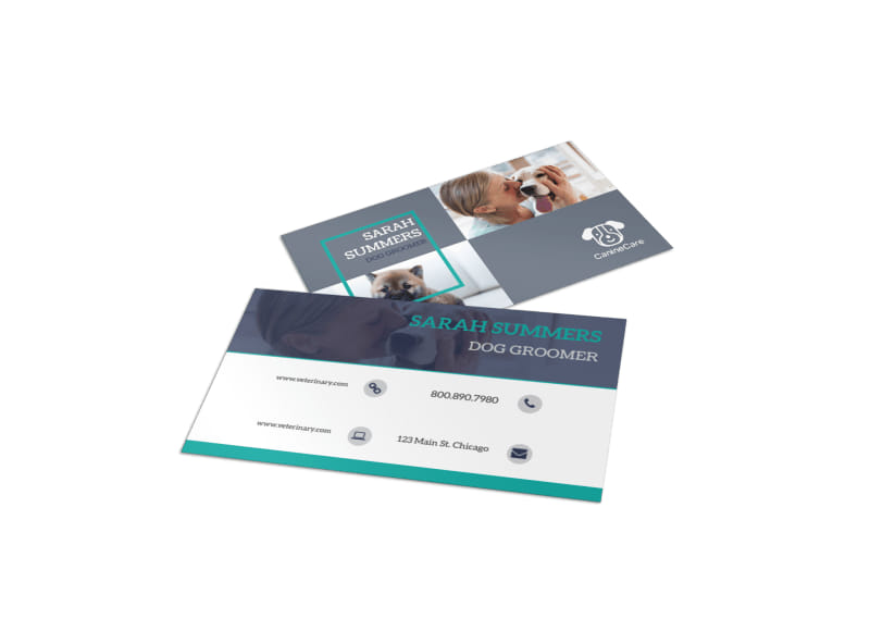 Pro Dog Grooming Business Card Template
