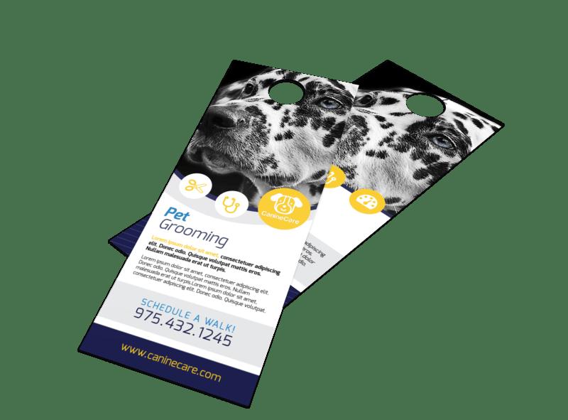 Pro Pet Grooming Door Hanger Template Preview 1