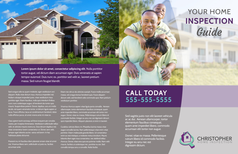 Home Inspection Guide Bi-Fold Brochure Template Preview 2