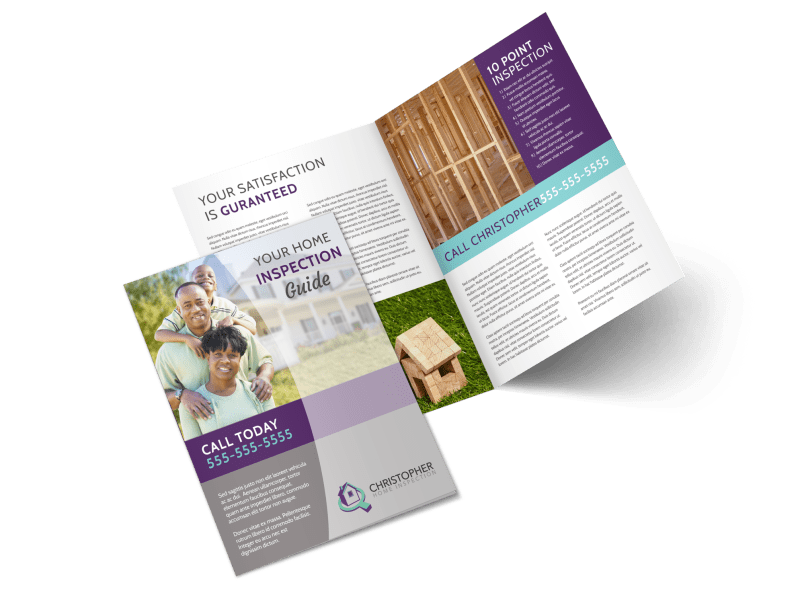 Home Inspection Guide Bi-Fold Brochure Template Preview 1