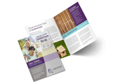 Home Inspection Guide Bi-Fold Brochure Template preview