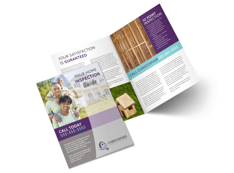 Home Inspection Guide Bi-Fold Brochure Template Preview 4