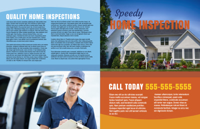 Home Inspection Bi-Fold Brochure Template Preview 1