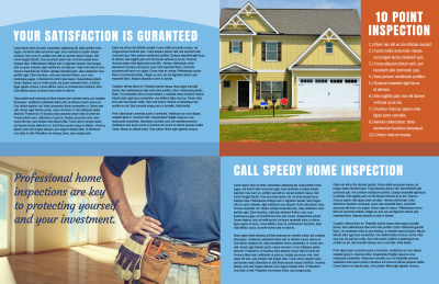 Home Inspection Bi-Fold Brochure Template Preview 2