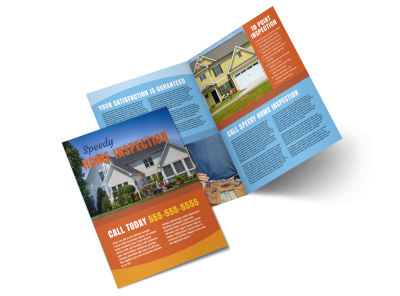 Home Inspection Bi-Fold Brochure Template preview