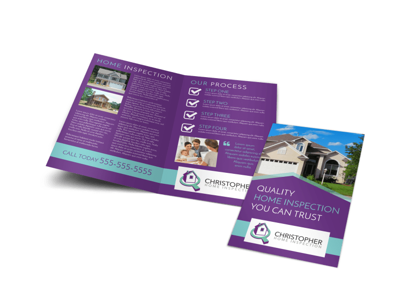 Purple Home Inspection Bi-Fold Brochure