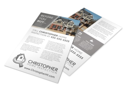 Home Inspection Contact Flyer Template preview