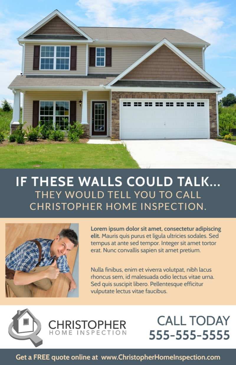 Awesome Home Inspection Flyer Template Preview 2