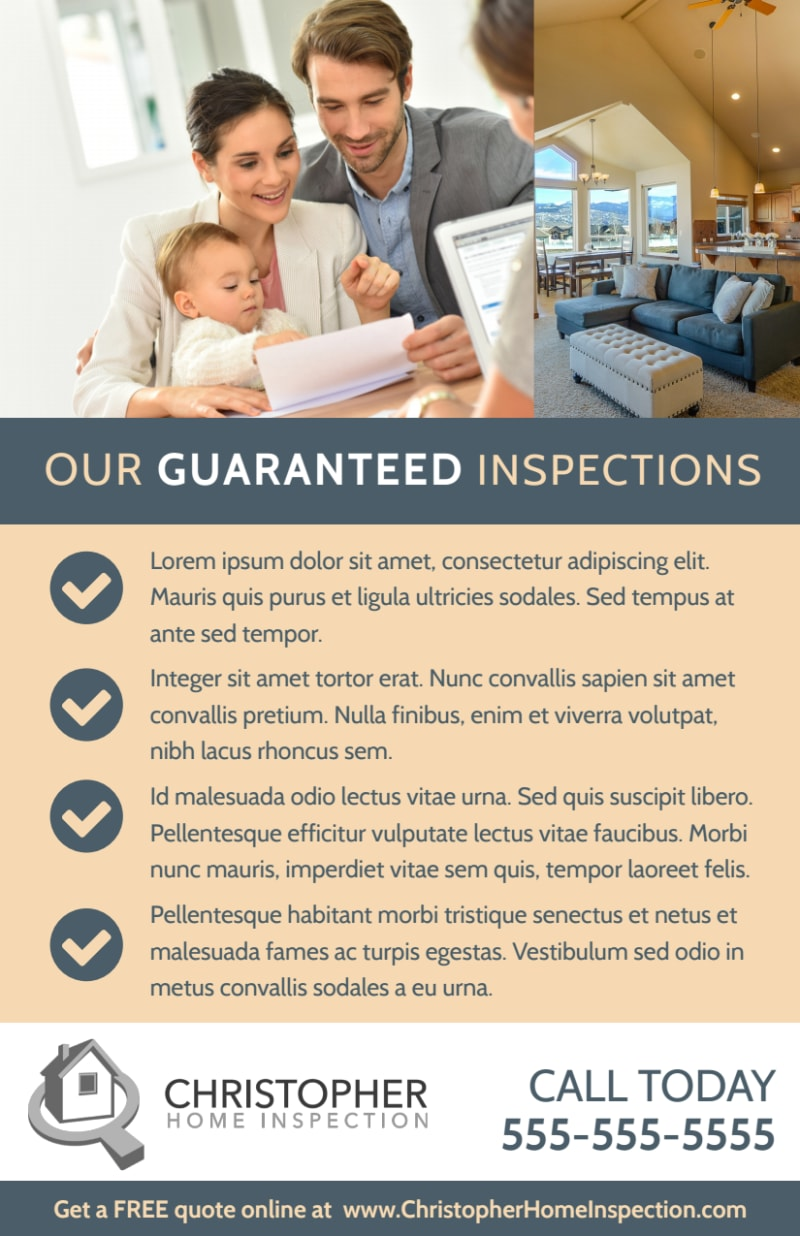 Awesome Home Inspection Flyer Template Preview 3
