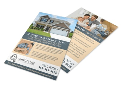Awesome Home Inspection Flyer Template preview