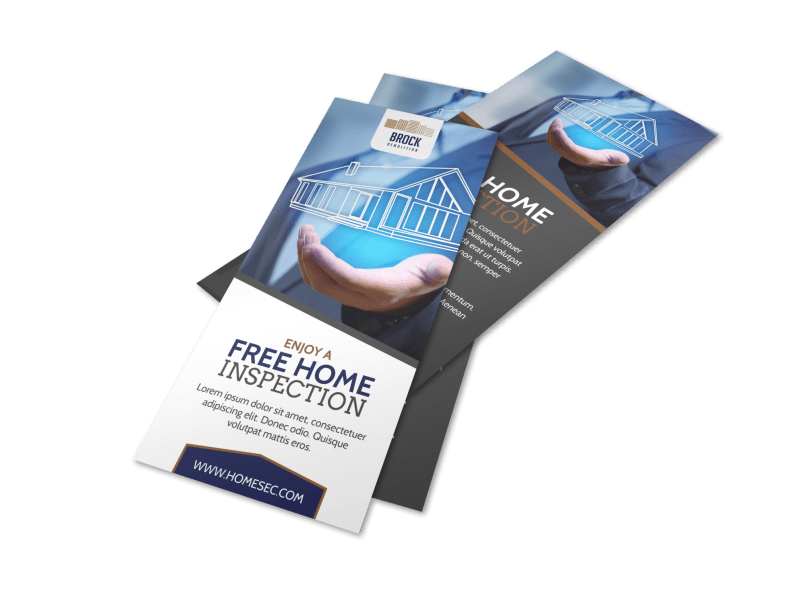 Home Inspection Flyer