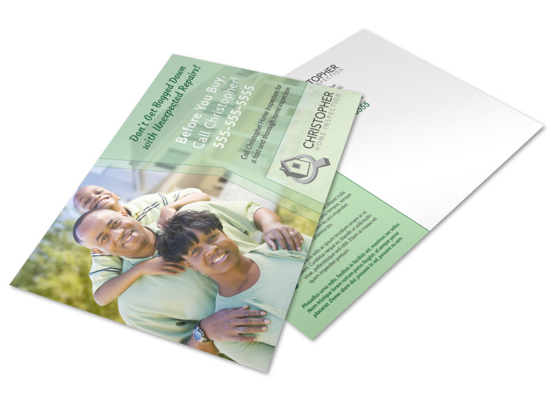 Quality Home Inspection Postcard Template Preview 1