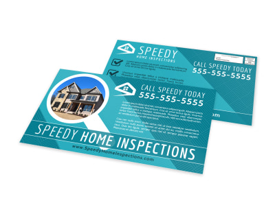 Speedy Home Inspection EDDM Postcard Template preview