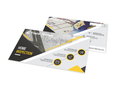 Pro Home Inspection EDDM Postcard Template preview
