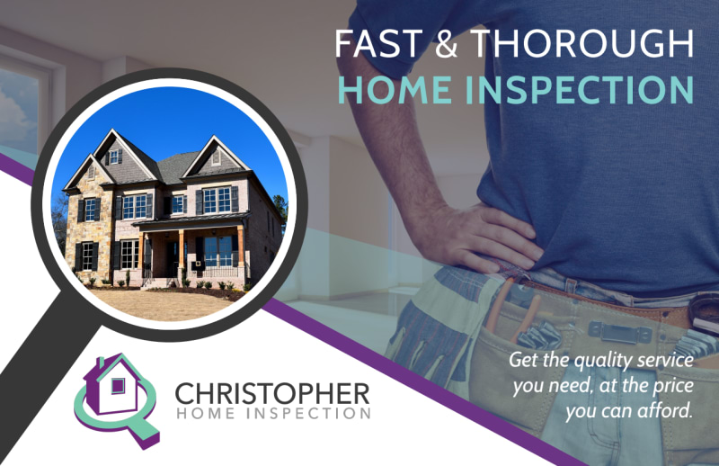 Fast Home Inspection Postcard Template Preview 2