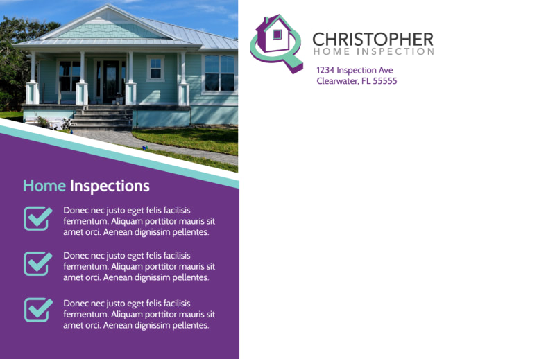Fast Home Inspection Postcard Template Preview 3