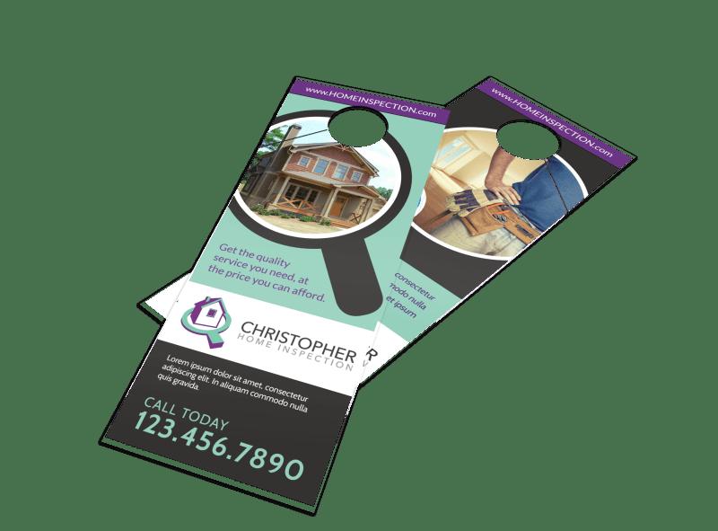 Home Inspection Door Hanger Template Preview 1