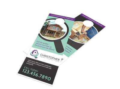 Home Inspection Door Hanger Template