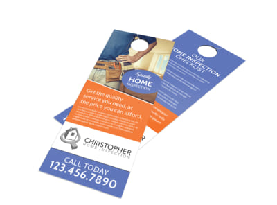 Speedy Home Inspection Door Hanger Template