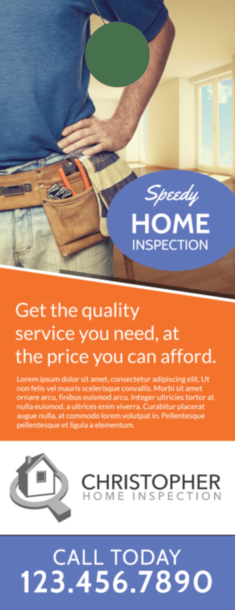 Speedy Home Inspection Door Hanger Template Preview 2