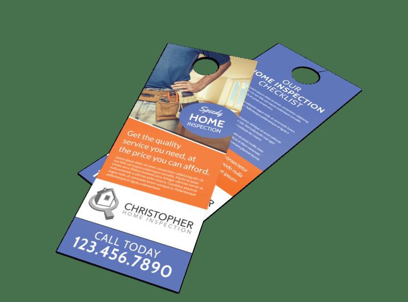 Speedy Home Inspection Door Hanger Template Preview 1